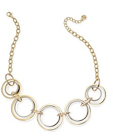 """Tri-Tone Link Frontal Necklace, 17"""" + 2"""" extender, Created for Macy's"""