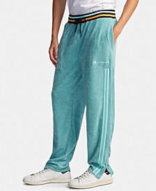 Men's C-Life Varsity-Stripe Terry Warm-Up Pants