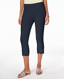 INC Petite Lace-Hem Capri Pants, Created for Macy's