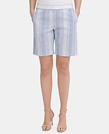 Striped Slim-Leg Shorts, Created for Macy's