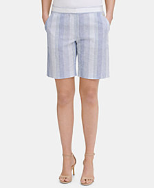 Tommy Hilfiger Striped Slim-Leg Shorts, Created for Macy's