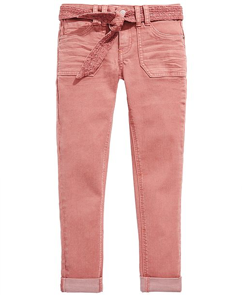 Imperial Star Big Girls Pink Tie-Front Pants