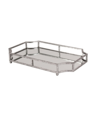Kate and Laurel Ciel Metal Mirrored Scalloped Decorative Tray