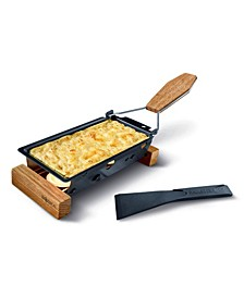 Partyclette To Go Oak Portable Personal Cheese Melter