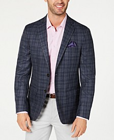 Men's Classic-Fit UltraFlex Stretch Plaid Sport Coat