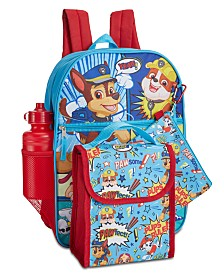 PAW Patrol Little and Big Boys 5-Pc. Backpack And Lunchbox Set