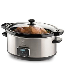 Toastmaster 7 Quart Stainless Steel Digital Slow Cooker with Locking Lid
