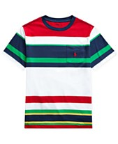 36aafe0c Polo Ralph Lauren Big Boys Striped Cotton T-Shirt