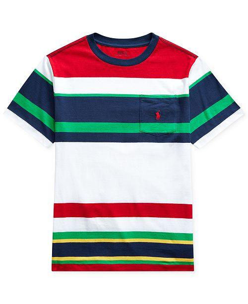 Boys Cotton T Shirt Big Striped PikXuZ