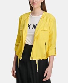 Roll-Tab Zip-Front Jacket