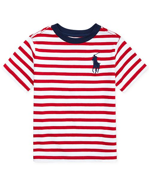 20af473f7a Polo Ralph Lauren Toddler Boys Striped Cotton T-Shirt & Reviews ...