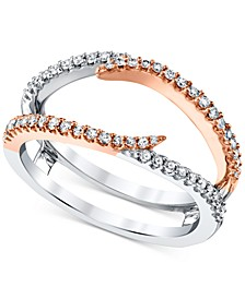 Diamond Enhancer Ring Guard (1/3 ct. t.w.) in 14k White Gold and 14k Rose Gold