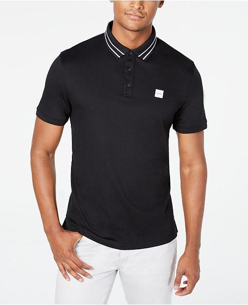 Calvin Klein Men's Tipped Logo Polo