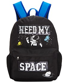 FAB Little & Big Boys Reversible Sequin Space Backpack