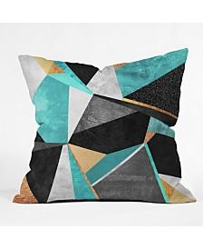 Elisabeth Fredriksson Turquoise Geometry Throw Pillow