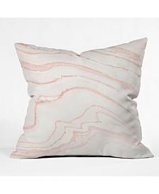 Rebecca Allen Blush Marble Throw Pillow