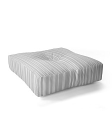 Lisa Argyropoulos Dove Stripe Square Floor Pillow