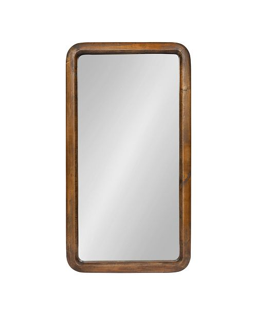 Kate and Laurel Pao Framed Wood Wall Mirror