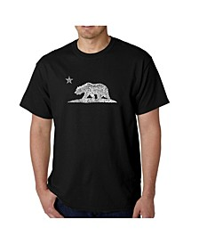 Mens Word Art T-Shirt - California Bear