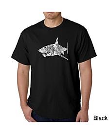 Mens Word Art T-Shirt - Shark Species