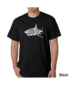 LA Pop Art Mens Word Art T-Shirt - Shark Species
