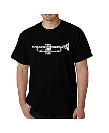 Mens Word Art T-Shirt - Trumpet