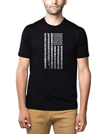 LA Pop Art Mens Premium Blend Word Art T-Shirt - Anthem