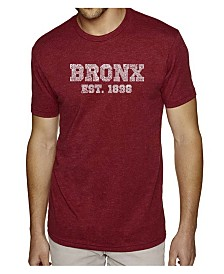 LA Pop Art Mens Premium Blend Word Art T-Shirt - Popular Bronx, NY Neighborhoods