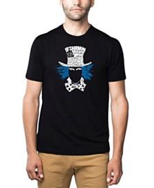 LA Pop Art Mens Premium Blend Word Art T-Shirt - The Mad Hatter