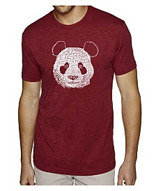 LA Pop Art Mens Premium Blend Word Art T-Shirt - Panda Head