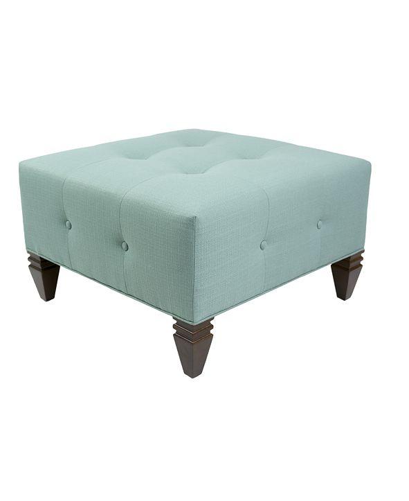 MJL Furniture Designs Nova Button Tufted Square Ottoman