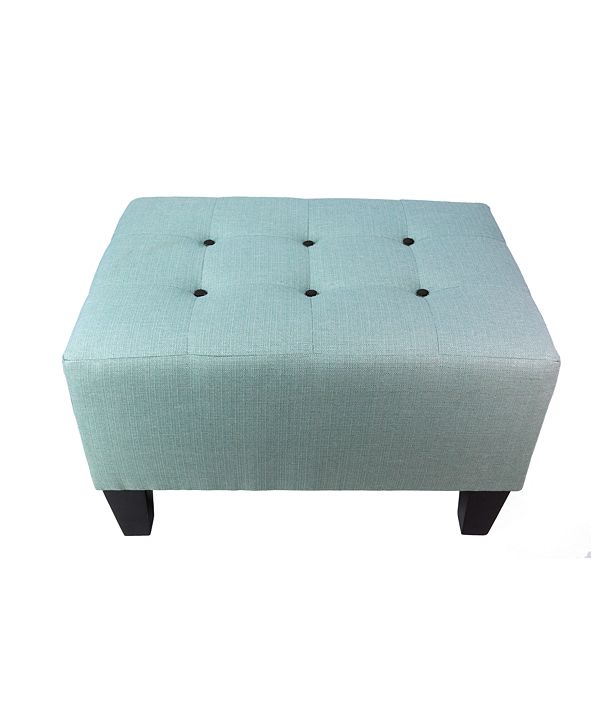 MJL Furniture Designs Max Button Tufted Upholstered Squared Ottoman