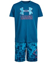 3af01de98 Under Armour Big Boys Charged Cotton® Print Fill Logo T-Shirt & Printed  Shorts. Quickview. 10 colors