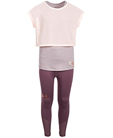 Big Girls Infinity Layered Top & Ankle Cropped Leggings Separates