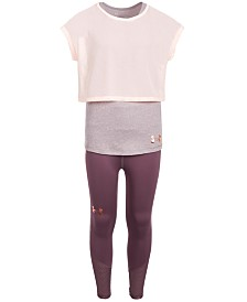 Under Armour Big Girls Infinity Layered Top & Ankle Cropped Leggings Separates