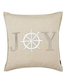 Joy Applique Square Pillow