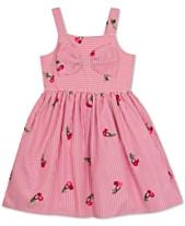 b0918dd820 Rare Editions Little Girls Pinstripe Cherry Embroidered Sundress