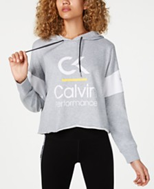 Calvin Klein Performance Colorblocked  Cropped Hoodie