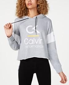 Calvin Klein Performance Colorblocked  Cropped Hoodie