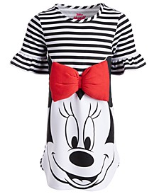 Little Girls Striped Minnie Mouse Dress, Created for Macy's