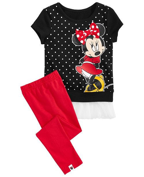 Disney Toddler Girls 2-Pc. Minnie Graphic Top & Leggings Set, Created for Macy's