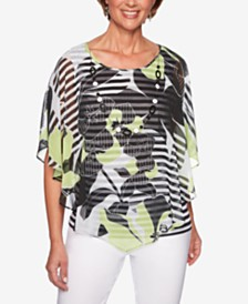 Alfred Dunner Cayman Islands Layered Necklace Top