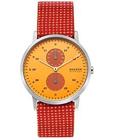 Men's Kristoffer Multicolor Fabric Strap Watch 42mm