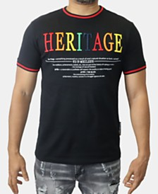 Heritage America Men's Embroidered Logo Graphic T-Shirt