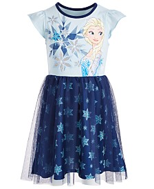 Disney Little Girls Elsa Snowflake Dress, Created for Macy's