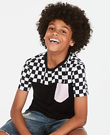 Epic Threads Big Boys Colorblocked Checker Pocket T-Shirt, Created for Macy's
