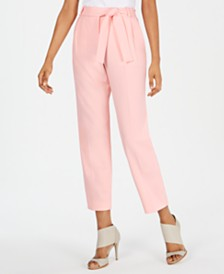 Calvin Klein Belted Ankle Pants