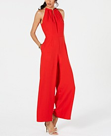 Sleeveless Hardware-Embellished Jumpsuit