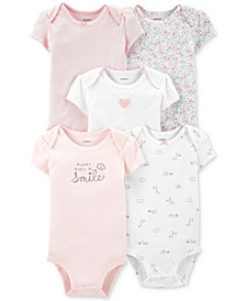 Baby Girls 5-Pk. Cotton Bodysuits
