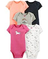 d1a61a676 Carter's Baby Girls 5-Pk. Graphic Bodysuits